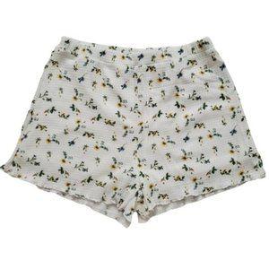 SHEIN Women's Ditsy Floral Frill Hem Shorts NWOT